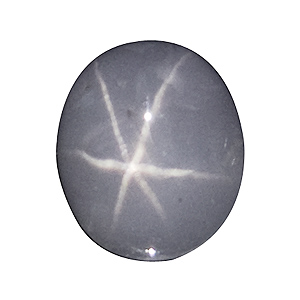 Star Sapphire from Sri Lanka. 1.41 Carat. Cabochon Oval, translucent