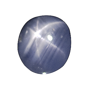 Star Sapphire from Sri Lanka. 1.83 Carat. very good colour and star, small cavities hardly visible to the naked eye