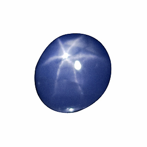 Star Sapphire from Sri Lanka. 1.9 Carat. Cabochon Oval, translucent