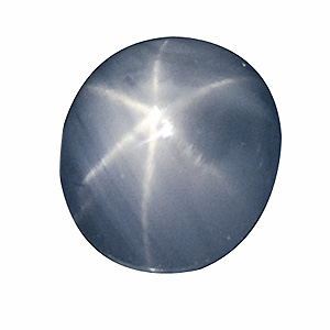 Star Sapphire from Sri Lanka. 1.89 Carat. Cabochon Oval, translucent