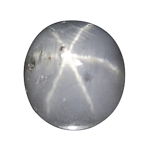 Star Sapphire from Sri Lanka. 2.13 Carat. several small cavities, excellent star