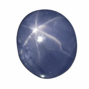 Star Sapphire from Sri Lanka. 2.5 Carat. hardly visible small cavity on top, beautiful colour and good star