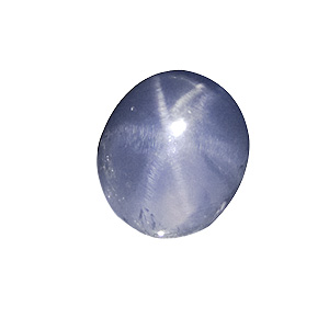 Star Sapphire from Sri Lanka. 2.52 Carat. good star, very high transparency