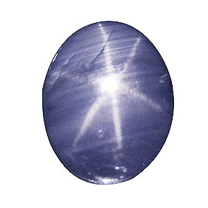 Star Sapphire from Sri Lanka. 2.75 Carat. Cabochon Oval, translucent