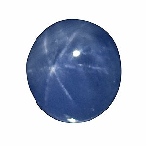 Star Sapphire from Sri Lanka. 2.82 Carat. good star, very good colour, slightly colour zoned