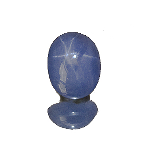 Star Sapphire from Sri Lanka. 3.03 Carat. Cabochon Oval, semi-translucent