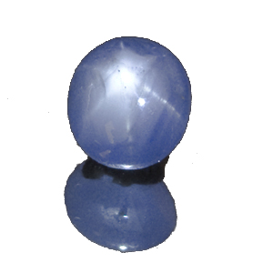 Star Sapphire from Sri Lanka. 3.25 Carat. Cabochon Oval, semi-translucent
