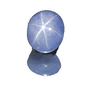 Star Sapphire from Sri Lanka. 3.29 Carat. Cabochon Oval, semi-translucent