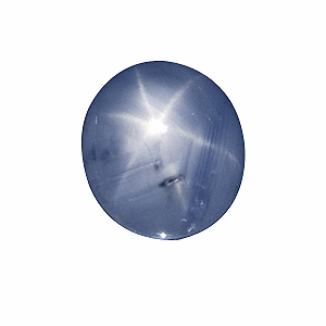 Star Sapphire from Sri Lanka. 3.3 Carat. Cabochon Oval, translucent
