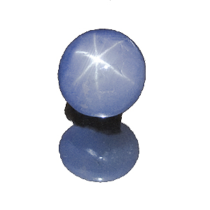 Star Sapphire from Sri Lanka. 3.38 Carat. Cabochon Oval, semi-translucent