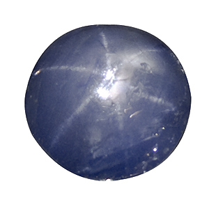 Star Sapphire from Sri Lanka. 3.38 Carat. very good star and intense colour, some small natural cavities