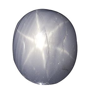 Star Sapphire from Sri Lanka. 3.47 Carat. Cabochon Oval, semi-translucent