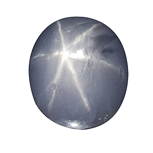 Star Sapphire from Sri Lanka. 3.52 Carat. small, hardly visible cavities, very good star