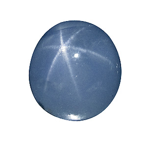 Star Sapphire from Sri Lanka. 3.64 Carat. Cabochon Oval, translucent
