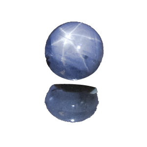 Star Sapphire from Sri Lanka. 3.66 Carat. Cabochon Oval, semi-translucent