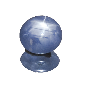 Star Sapphire from Sri Lanka. 3.82 Carat. Cabochon Oval, semi-translucent