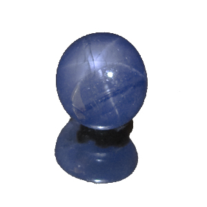 Star Sapphire from Sri Lanka. 3.9 Carat. Cabochon Oval, semi-translucent
