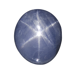 Star Sapphire from Sri Lanka. 4.55 Carat. Cabochon Oval, translucent