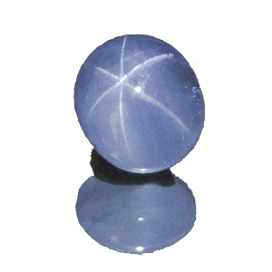 Star Sapphire from Sri Lanka. 4.7 Carat. Cabochon Oval, semi-translucent