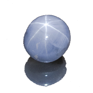 Star Sapphire from Sri Lanka. 5.71 Carat. Cabochon Oval, semi-translucent