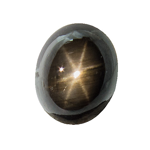 Black Star Sapphire from Thailand. 3.51 Carat. Cabochon Oval, opaque