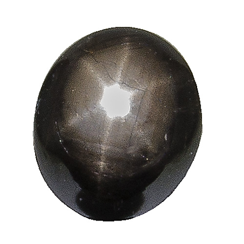 Black Star Sapphire from Thailand. 2.17 Carat. Cabochon Oval, semi-translucent