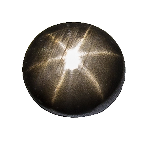 Black Star Sapphire from Thailand. 1 Piece. Cabochon Round, semi-translucent