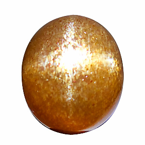 Star Sunstone (Aventurine Feldspar) from India. 26 Carat. selected quality, way above average