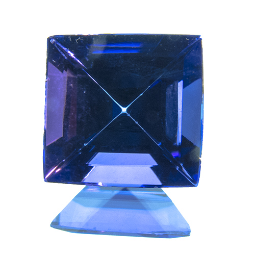 Tanzanite from Tanzania. 1.74 Carat. slightly rounded outlines can be hidden in a bezel setting
