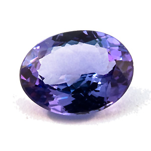 Tanzanite from Tanzania. 2.49 Carat. slightly asymmetrical pavilion