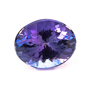 Tanzanite from Tanzania. 3.61 Carat. Oval, very very small inclusions