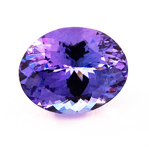 Tanzanite from Tanzania. 3.9 Carat. Oval, very very small inclusions