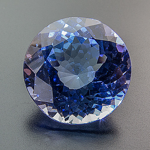 Tanzanite from Tanzania. 10.45 Carat. Round, very very small inclusions