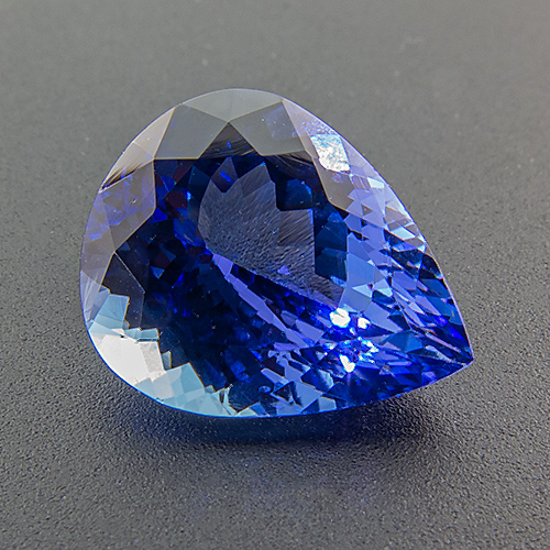 Tanzanite from Tanzania. 1 Piece. Note: cutting of two stones on stock does not match well. Not a pair.