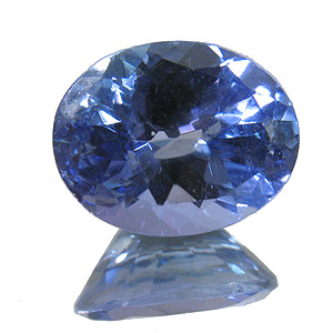Tanzanite from Tanzania. 2.02 Carat. Oval, small inclusions