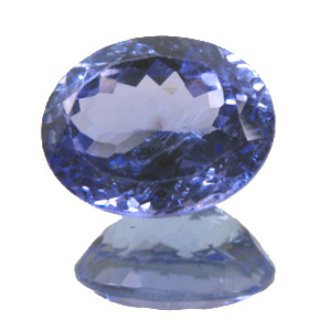 Tanzanite from Tanzania. 2.3 Carat. Oval, small inclusions