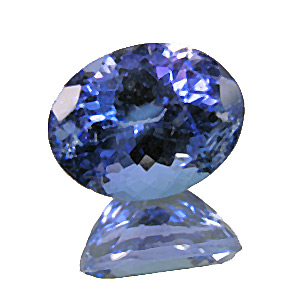 Tanzanite from Tanzania. 2.52 Carat. Oval, small inclusions