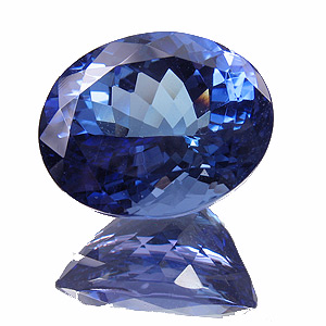 Tanzanite from Tanzania. 5.23 Carat. beautyful steel blue with only very little purple tinge