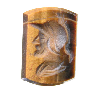 Tiger Eye from South Africa. 1 Piece. Carving, opaque