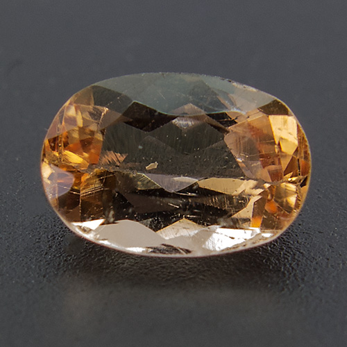 Imperial Topaz from Brazil. 0.57 Carat. Oval, eyeclean