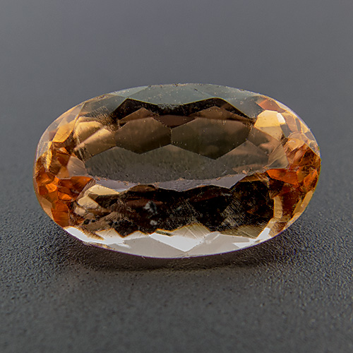 Imperial Topaz from Brazil. 1.34 Carat. Oval, eyeclean