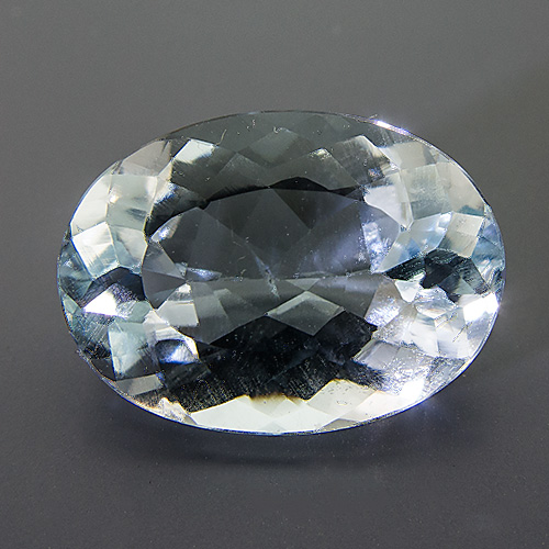 Natural Blue Topaz from Brazil. 10.5 Carat. Oval, very small inclusions