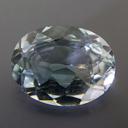 Natural Blue Topaz from Brazil. 5.62 Carat. Oval, eyeclean
