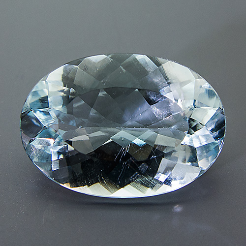 Natural Blue Topaz from Brazil. 9.72 Carat. Oval, very very small inclusions