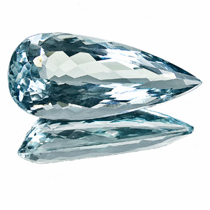 Natural Blue Topaz from Brazil. 17.57 Carat. Pear, eyeclean