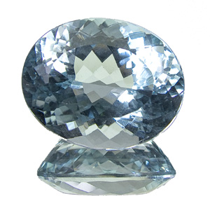 Natural Blue Topaz from Brazil. 17.72 Carat. Oval, very very small inclusions