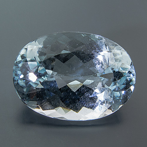 Natural Blue Topaz from Brazil. 13.55 Carat. Oval, very small inclusions