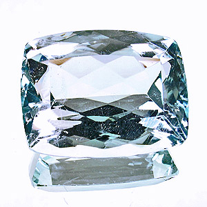 Natural Blue Topaz from Brazil. 46.51 Carat. Cushion, very very small inclusions