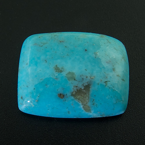 Turquoise from United States. 4.12 Carat. Cabochon Cushion, opaque