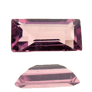 Tourmaline (Rubellite) from Brazil. 1 Piece. Baguette, small inclusions